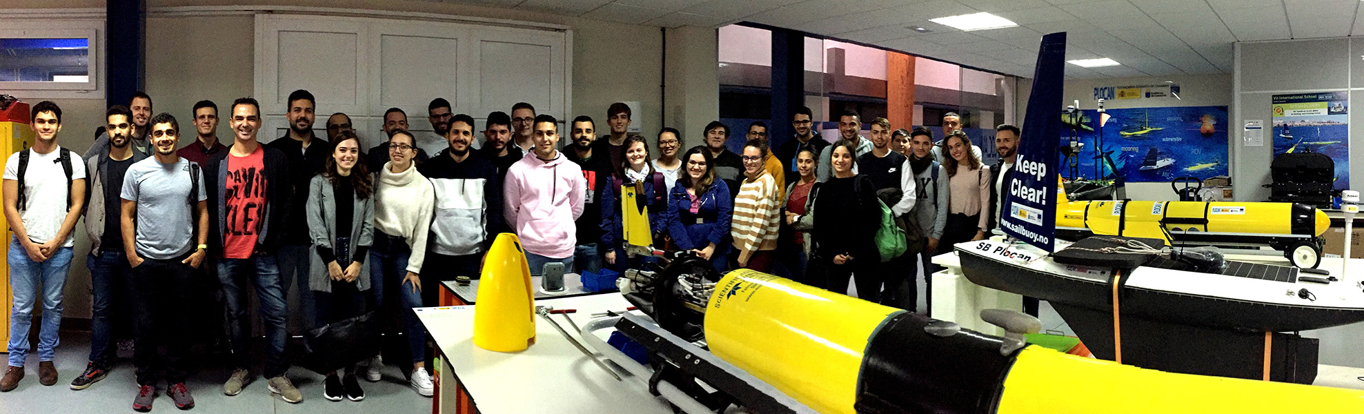 Students from the School of Industrial and Civil Engineering of ULPGC visit PLOCAN